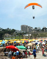 Aerial Publicity and Advertising in Miraflores, Lima, Peru